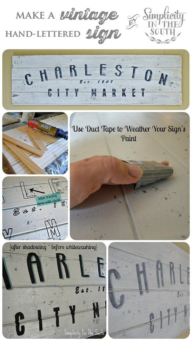 How to make a vintage inspired hand lettered wooden sign for Wood sign making templates