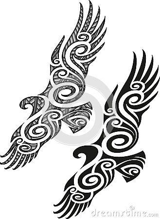 Maori Tattoo Pattern - Eagle Royalty Free Stock Photo - Image: 35385515