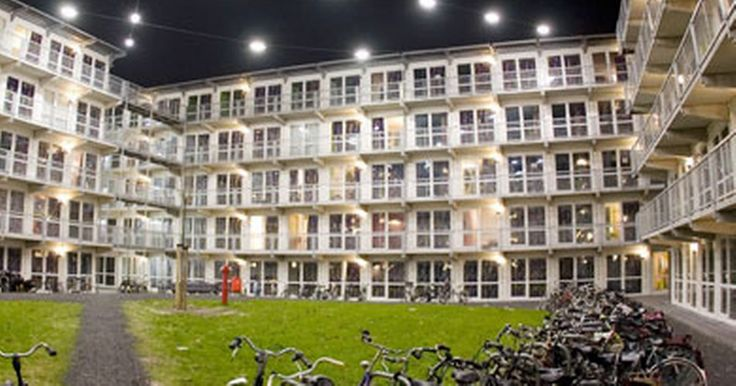 The Netherlands has one of the densest populations in the world so people are turning to unusual living arrangements and opting to make CONTAINERS their homes