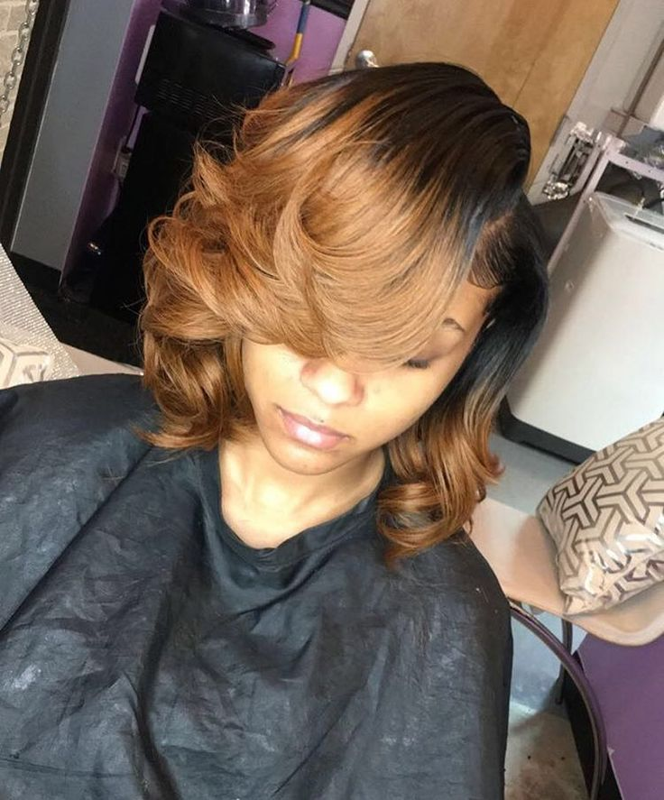 No Filter needed✨✨ Sew In messy/curly Bob for the Birthday Girl BOOK NOW!!!!!! Link in Bio More