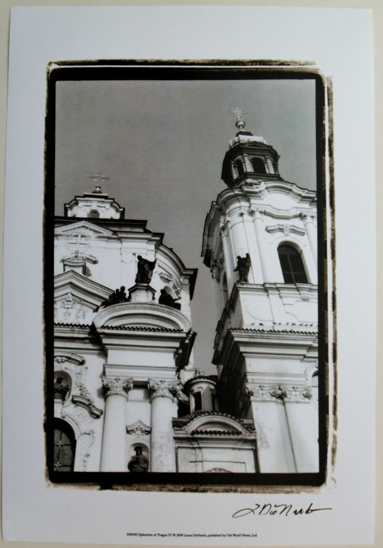 Black and white european art print splendors of prague iv by laura denardo