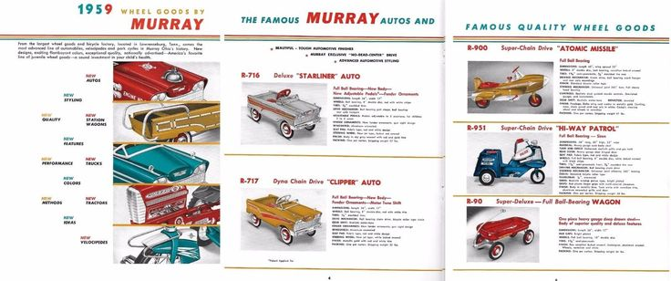 Pre-1970 732: 1959 Murray Pedal Car Original 12 Page Sales Brochure Mint -> BUY IT NOW ONLY: $99.99 on eBay!