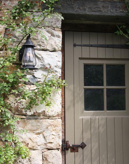 Putty colour front door.