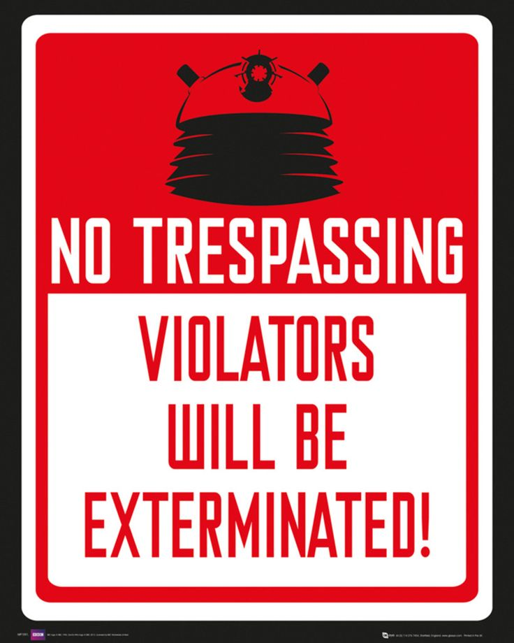 Doctor Who - Keep Out - Official Mini Poster. Official Merchandise. FREE SHIPPING