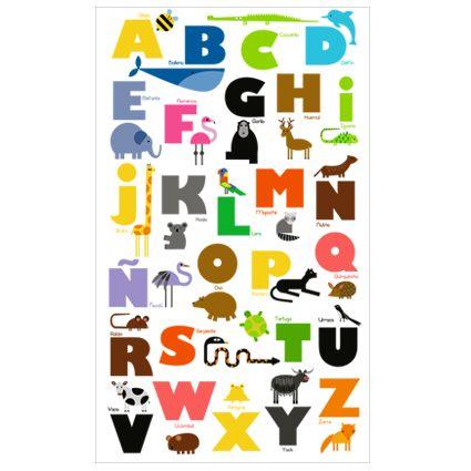 afiche abecedario