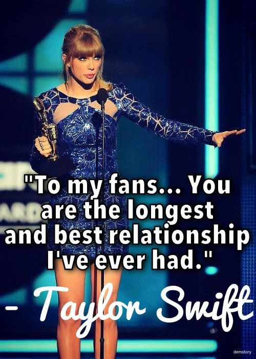 We love you, too, Taylor! Love, #TeamSwiftie