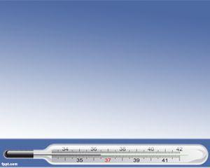 La plantilla PPT de termómetro es un fondo de diapositivas gratis que puede descargar como fondo de presentaciones de PowerPoint