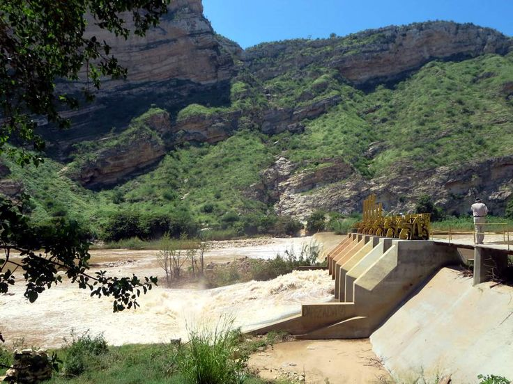 This dam is one of two on the Catumbela River producing electricity for western Angola.