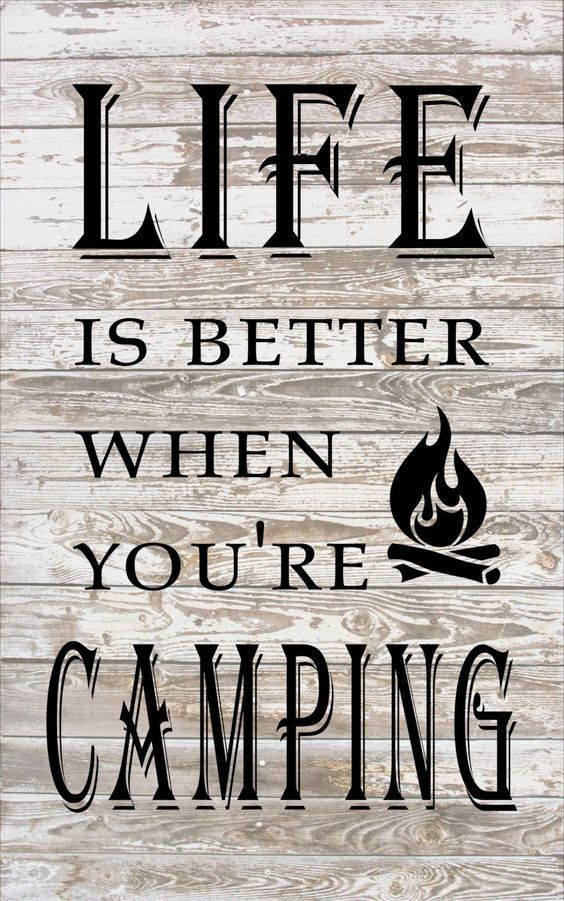 Life is Better When You're Camping - Camper Decor Banner - Mother's Day, Father's Day, Christmas, Birthday, Garden Flag Rustic Decor by HeartlandSigns on Etsy