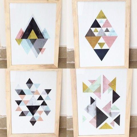 Cuadros Geométricos A4