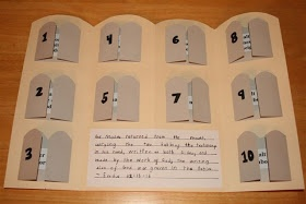 creative activity for learning the Ten Commandments