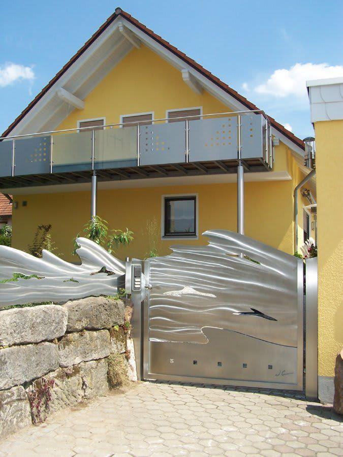 Awesome Finde moderner Garten Designs Edelstahl Tor und Zaunanlage Entdecke die sch nsten Bilder zur Inspiration