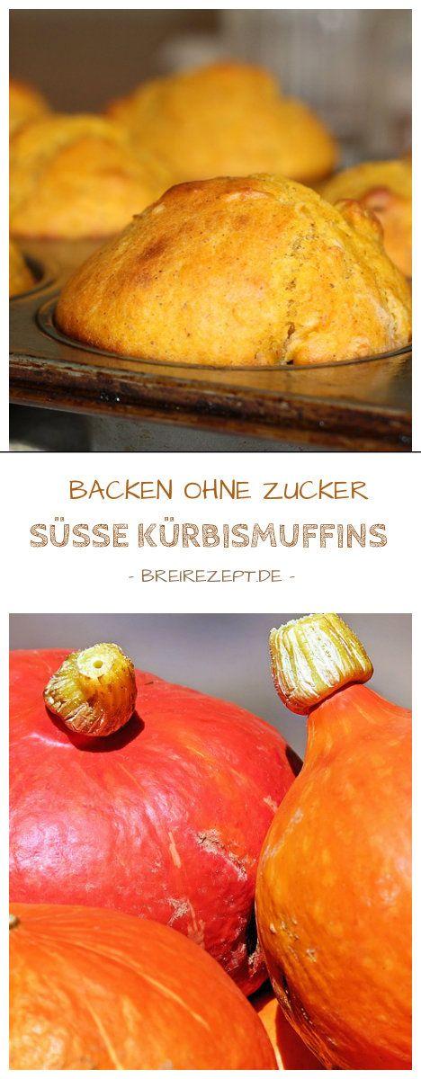 Süße Kürbismuffins sind kleine Kürbiskuchen aus der Kategorie Backen ohne Zucker und eignen sich schon als Beikost für das Baby (BLW), schmecken aber auch der ganzen Familie. Hier geht es zum gesunden Backrezept für Herbst und Winter: http://www.breirezept.de/rezept_kleine_kuerbismuffins_mit_vollkornmehl.html