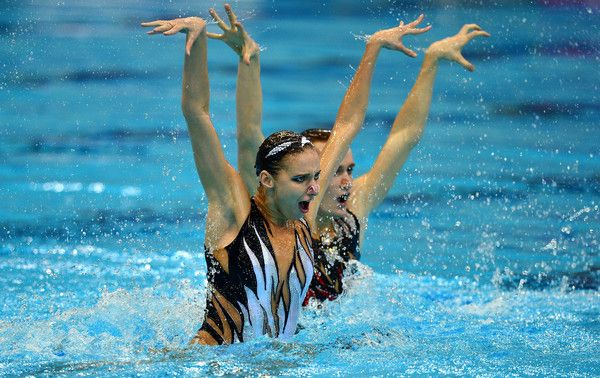 Aleksandr Maltsev Photos Photos - Aleksandr Maltsev and Mikhaela Kalancha of Russia compete in the Synchronised Swimming Mixed Duet Free Final on day three of the LEN European Swimming Championships at the Aquatics Centre on May 11, 2016 in London, England. - 33rd LEN European Swimming Championships 2016 - Day 3