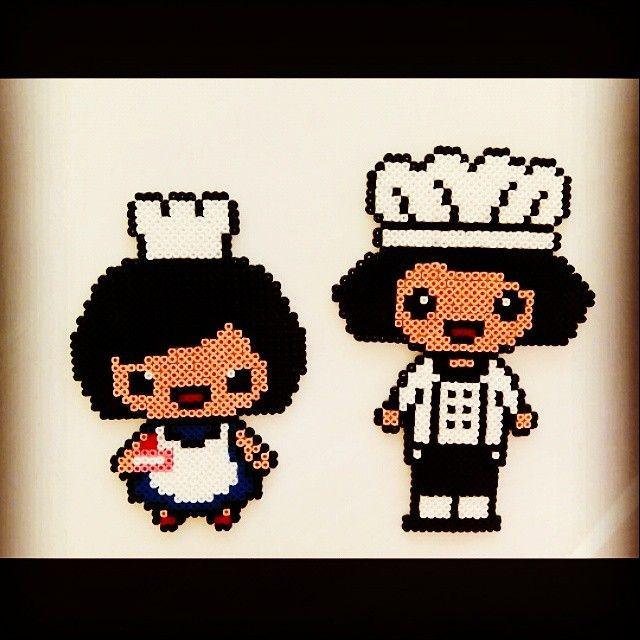 Chefs hama perler beads by evi7aam