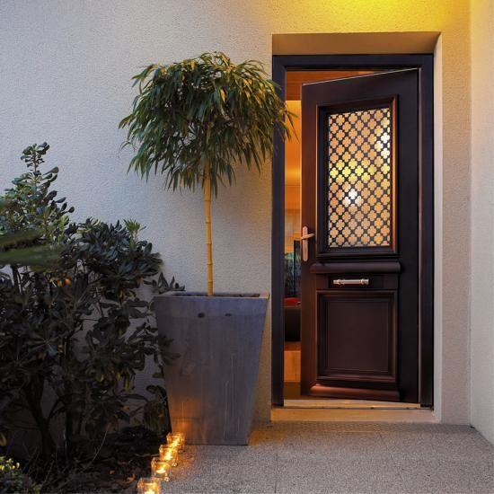 Porte d 'entrée mixte Aluminium - Bois Bel' m