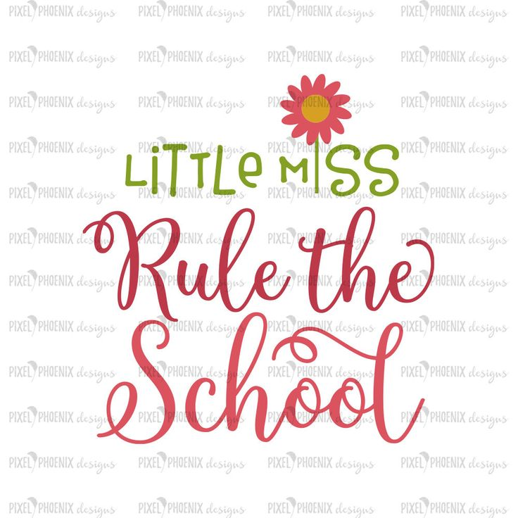Little Miss rule the school, Back to school SVG, Apple SVG, svg cut file, svg cricut, svg silhouette, instant download by pixelphoenixdesigns on Etsy