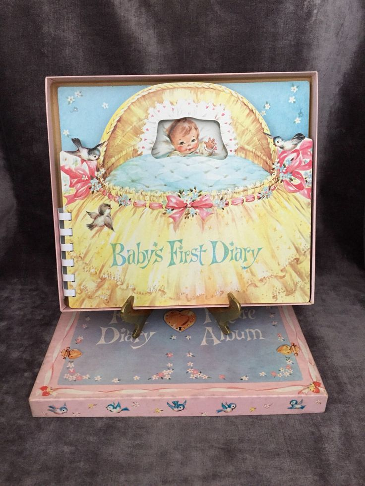 A personal favorite from my Etsy shop https://www.etsy.com/ca/listing/518214711/vintage-babys-first-diary-by-regal-gifts
