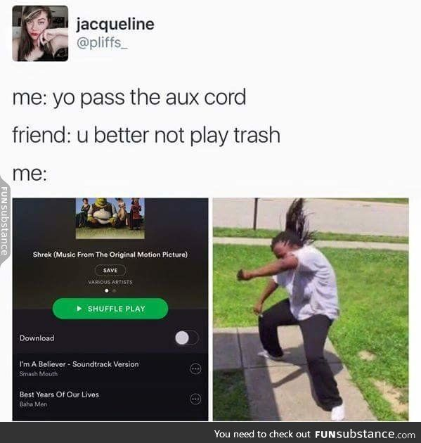 The shrek soundtrack is the best kind of music