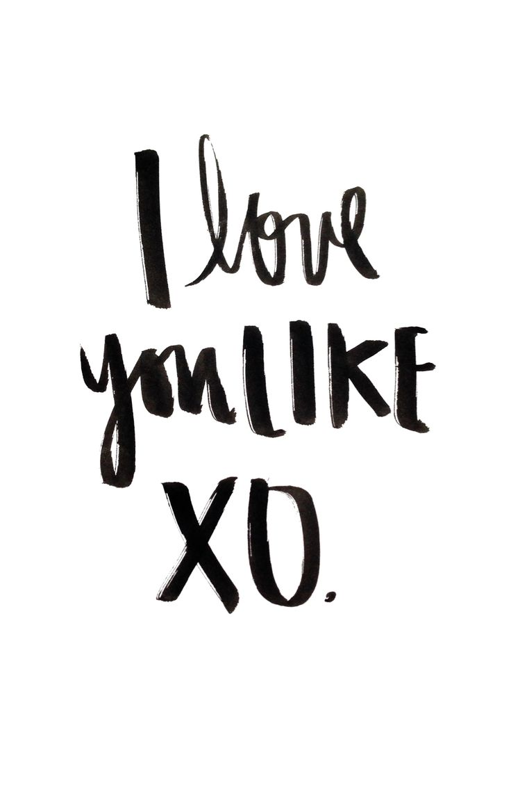 I Love You Like XO - You Love Me Like XO - Beyonce lyrics - John Mayer Lyrics - Black India Ink Handlettering  www.etsy.com/shop/FullyMade