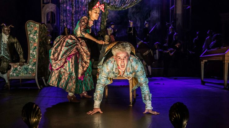 Karla Crome - Constanze Mozart, Adam Gillen - Wolfgang Amadeus Mozart,  photo by Marc Brenner - National Theatre  (? )