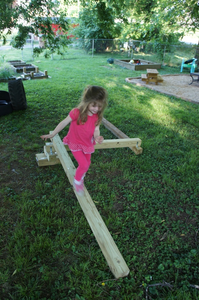 Balance Beam - this allows children to test their balancing skills and natural reluctance for instability in a safe environment