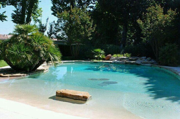Nice 48 Stunning Backyard Beach Pool Design Ideas https://homearchite.com/2017/06/20/48-stunning-backyard-beach-pool-design-ideas/