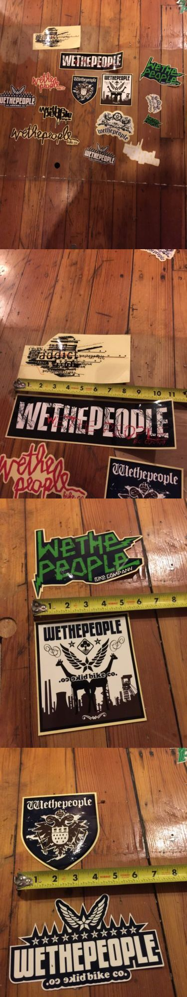 Decals Stickers 106953: Large Vintage Lot Of Nos We The People Bmx Bike Window Decals/ Stickers BUY IT NOW ONLY: $47.5