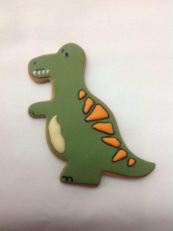 Dinosaur fondant cookies