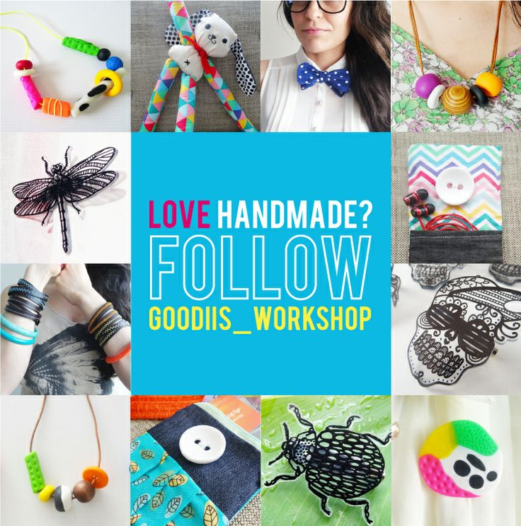 LOVE HANDMADE?!! Check out my NEW + QUIRKY handmade accessories at GOODIIS. Love what you see + want to see more?! FOLLOW ME at #goodiis_workshop on Instagram or www.goodiis.com. Thanx! HAPPY CRAFTING lovely peops!  Maria x