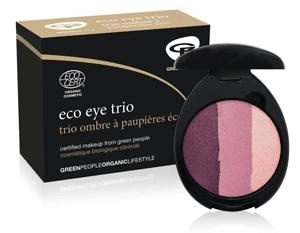 Certified organic eyeshadow compact with 3 Plum shades. Now £9.00