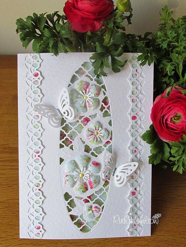 Blog tonic: Entwining trellis - Plush Peony - a pretty card from Ruth