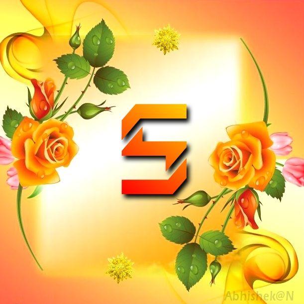 Yellow Rose Alphabet S In 2020 Yellow Roses Alphabet E Alphabet