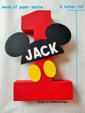 Mickey Mouse centrotavola compleanno numero Minnie mouse babys torta smash ragazzi primo compleanno regalo personalizzati bambino doccia vivaio decorazione