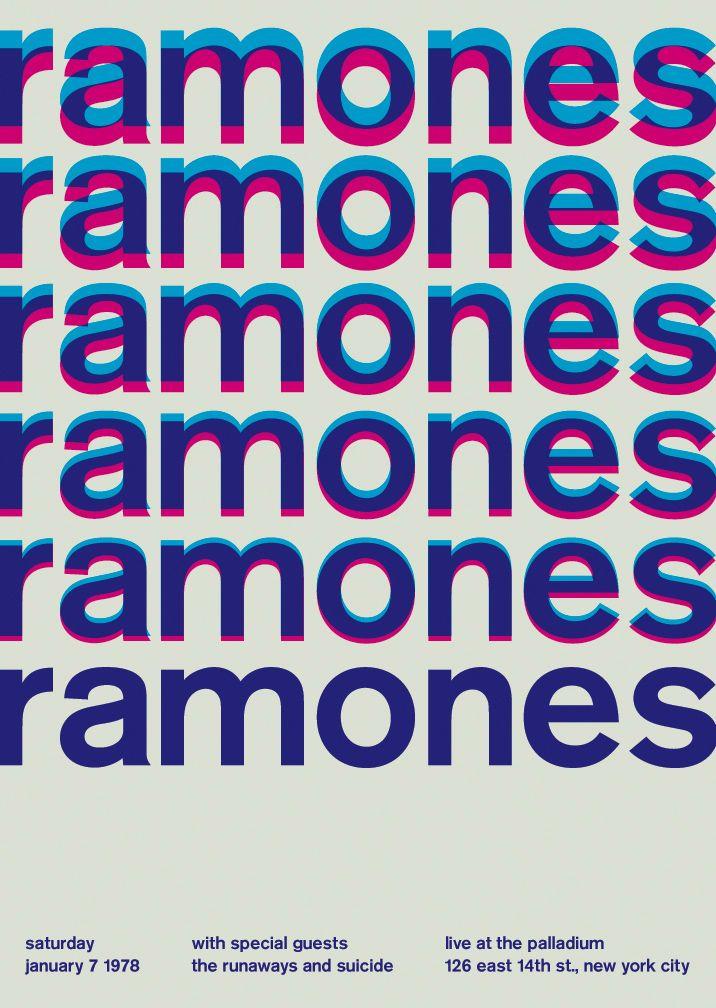 Posters de bandas no Estilo Tipográfico Internacional