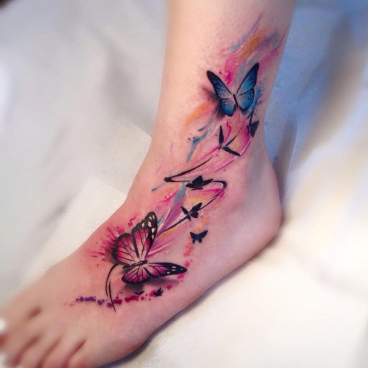 Watercolor Butterfly Tattoos: 17 Best Images About Tattoo On Pinterest