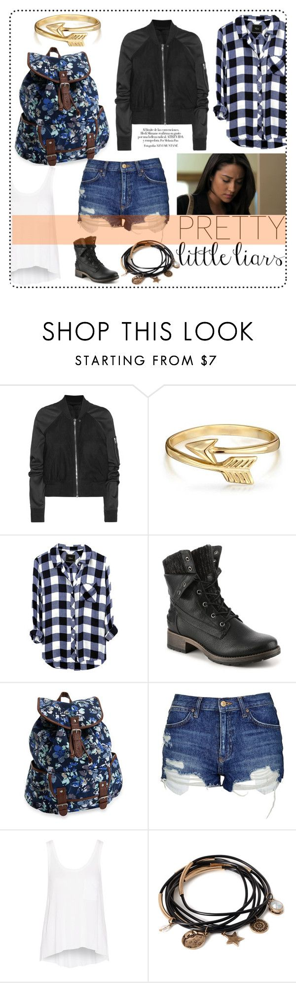 """""""Pretty Little Liars: Emily"""" by littledesigns ❤ liked on Polyvore featuring Rick Owens, Bling Jewelry, Aéropostale, Topshop, rag & bone and Forever 21"""