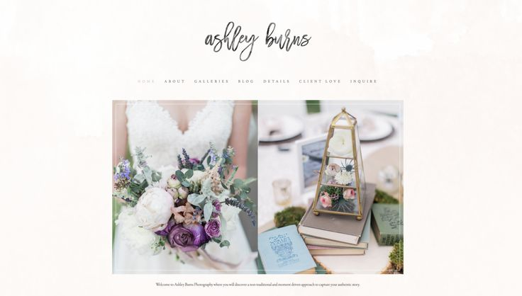 Ashley Burns Photography Website Launch | Graphic Designer for Photographers and Creative Business Owners | Emma Rose Company LLC