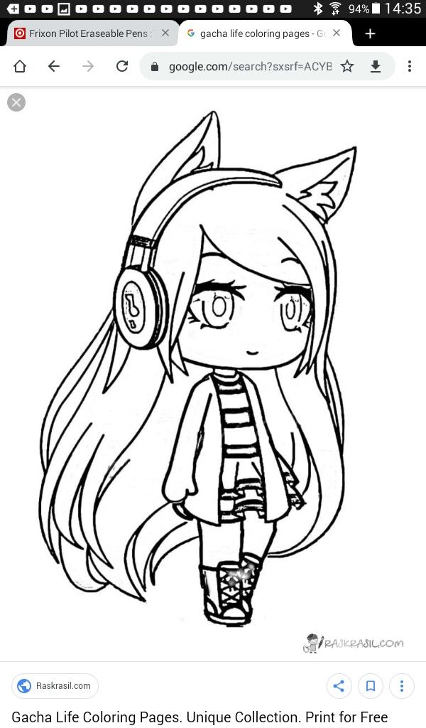 Gacha 5 With Images Coloring Pages Girly Drawings Cute Anime