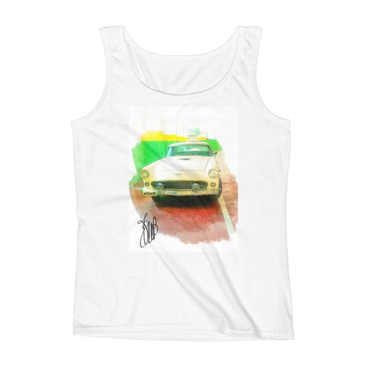 "CREATIONS by  ELIBET6.: Tank Top "" Car in garage""."
