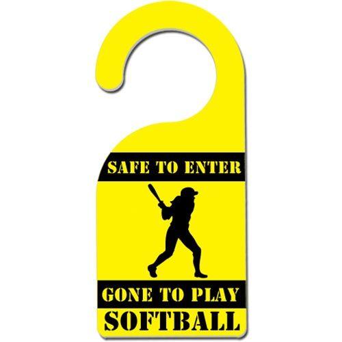 safe to enter softball door hanger softball bedroom ideassoftball