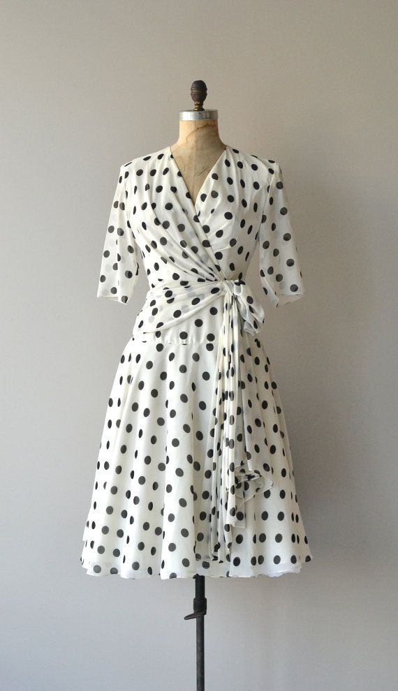 Day at the Races dress vintage polka dot dress by DearGolden