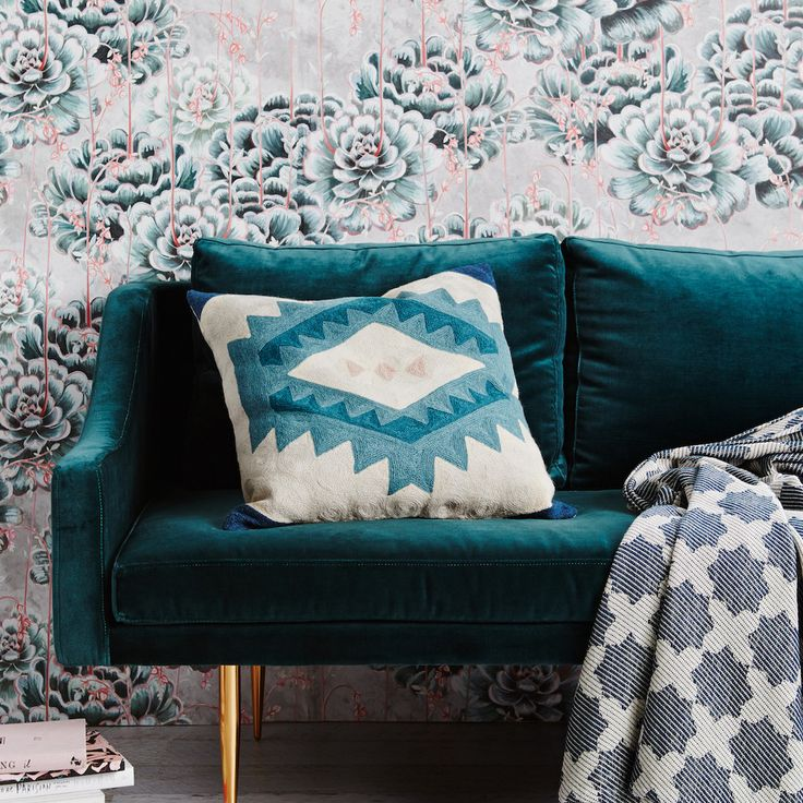 A nostalgic cushion inspired by traditional Berber motifs. If we could put any colour palette together, it would be these alluring hues! Designed by Sage and Clare, the Ryder Chainstitch Cushion is that 'need to have' piece for your living room or bedroom. A geometric design in dark teal, blush pink, cool emerald and dusty green that will give you just the right hint of colour while remaining versatile in your home. Delicate embroidery has been used to create a design that references Berber…