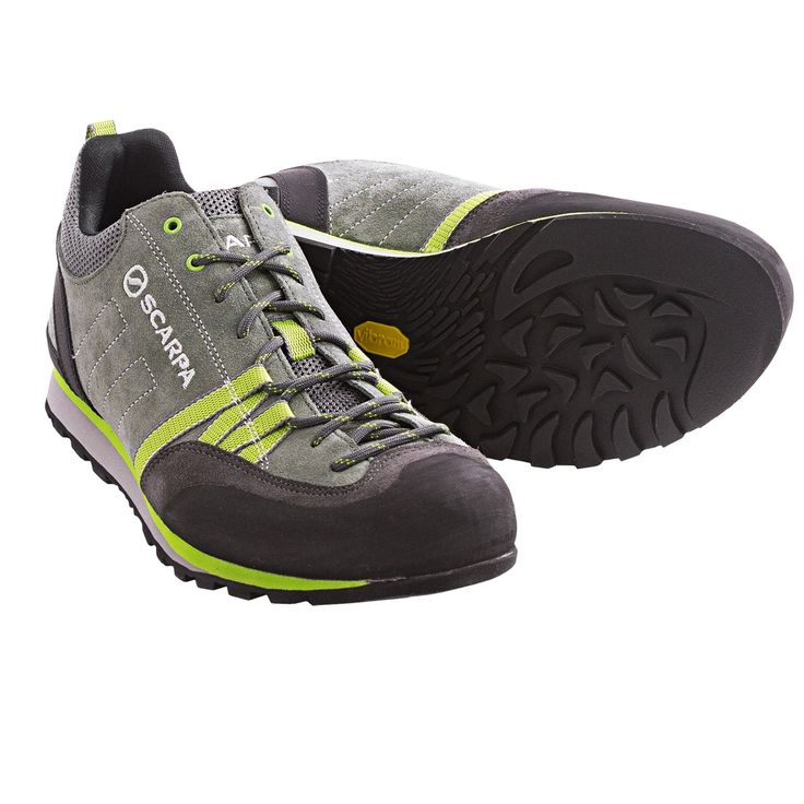 Scarpa Crux Light Hiking Shoes (For Men) in Shark/Green