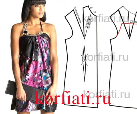 Pattern Silk Dress