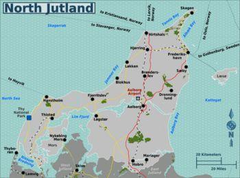 North Jutland Cities; Aalborg, Blokhus, Dronninglund, Fjerritslev, Frederikshavn, Hanstholm, Hirtshals, Hjallerup, Hjørring, Hobro, Løkken, Skagen, Sæby, Voerså, Thisted.