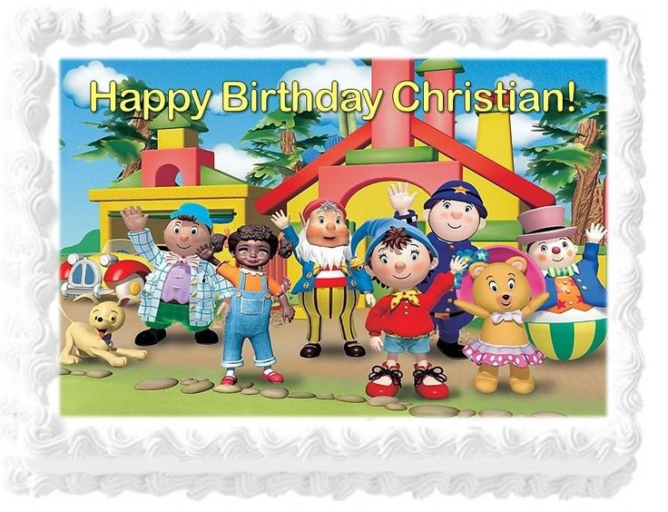 Noddy and Friends Personalized Birthday Edible Cake Image Decoration Topper #Birthday