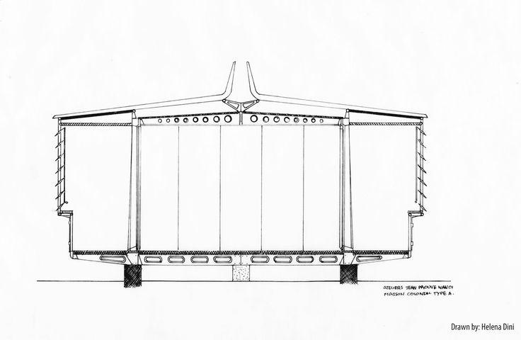 jean prouve maison tropicale plan google jean prouve pinterest architecture and arch. Black Bedroom Furniture Sets. Home Design Ideas