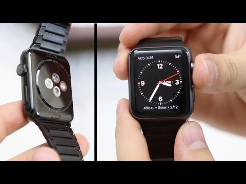 Space Black Apple Watch w/ Link Bracelet Unboxing [$1,200] - http://cpudomain.com/hard-drives-storage/space-black-apple-watch-w-link-bracelet-unboxing-1200/