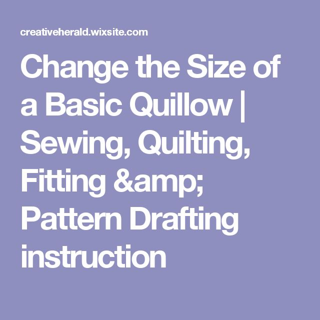 how to make a quillow for a baby